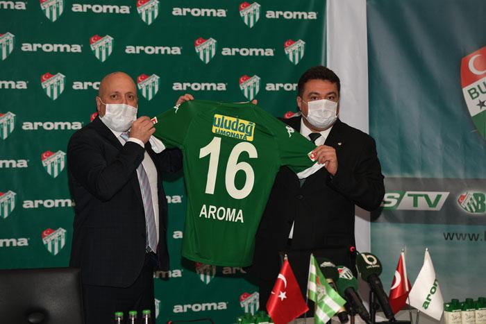 Aroma, bu sezon da Bursaspor'un yanında