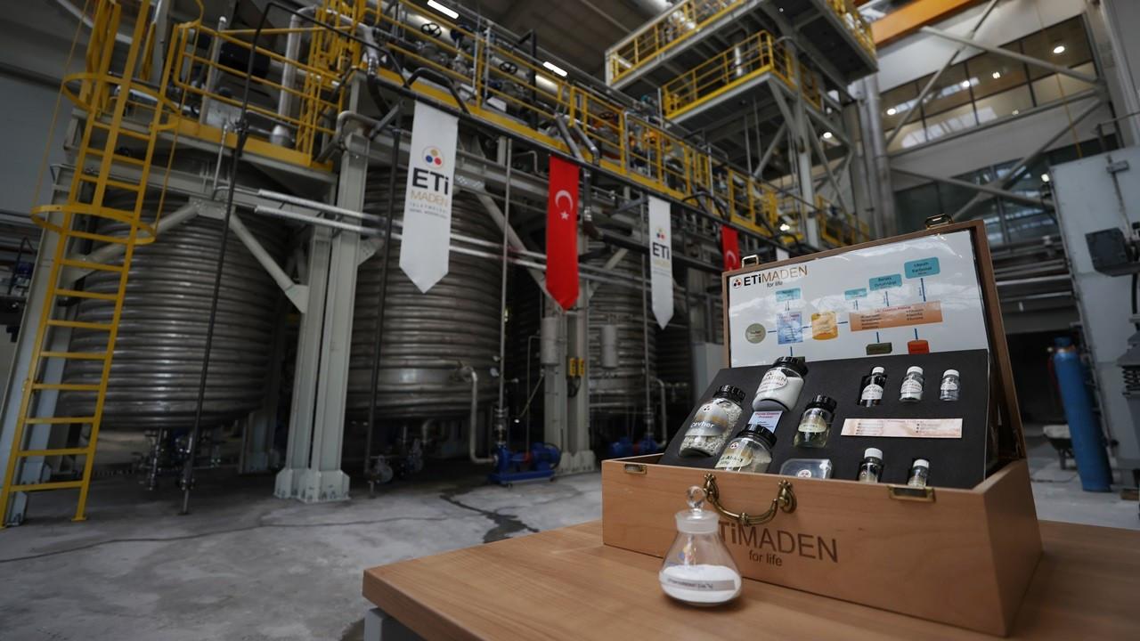 Eti Maden, Eskişehir'deki tesisinde lityum karbonat üretimine başladı