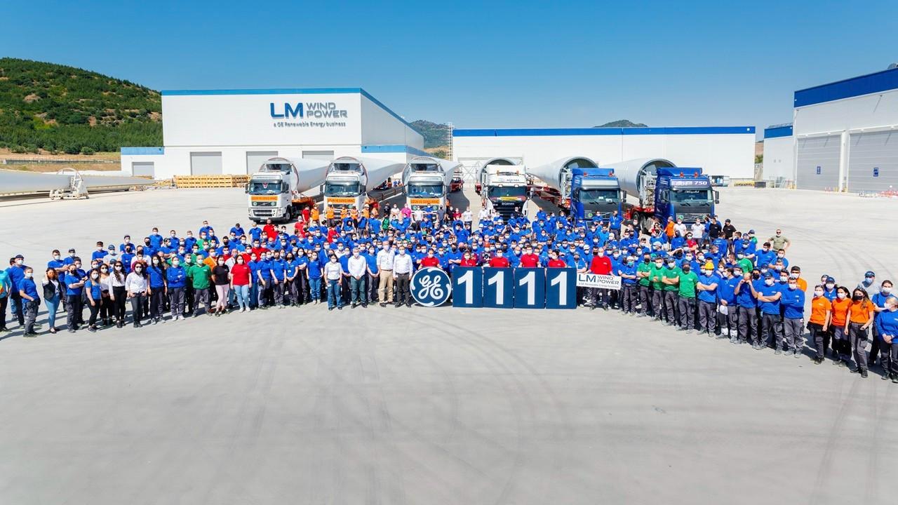 GE Yenilenebilir Enerji'nin Bergama tesisi 1111. türbin kanadını üretti