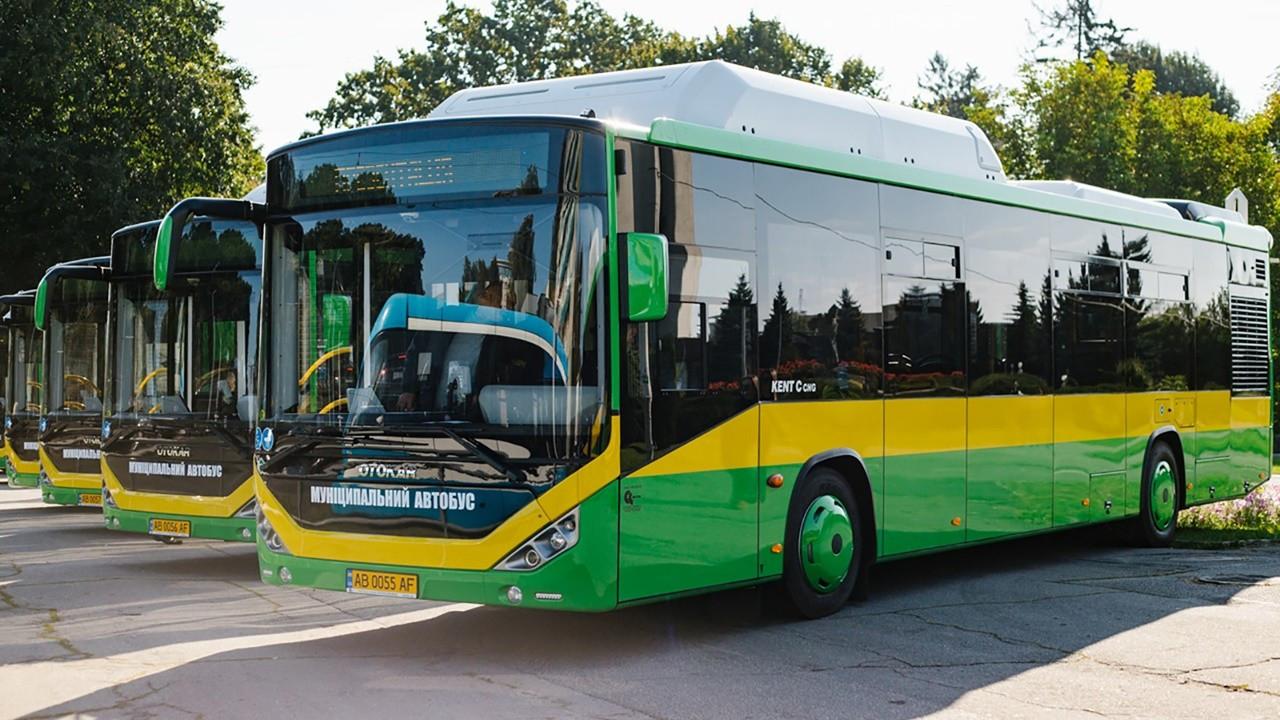 Otokar'dan Ukrayna'ya Kent CNG otobüs teslimatı